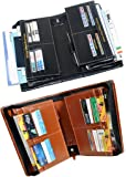 Pareek With Combo Benefits (Combo Of 2) Expanding Cheque Book Holder For Multiple Purpose All New (Black, Brown) Set Of 2 Ton Of Uses