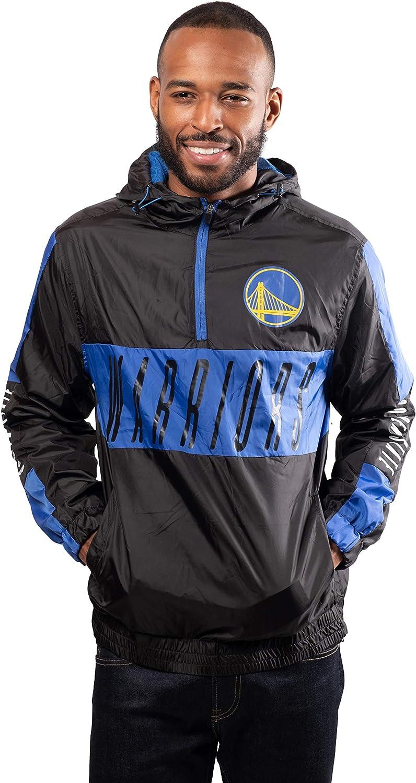 Ultra Game NBA mens Quarter Zip Pullover Hoodie Windbreaker Jacket