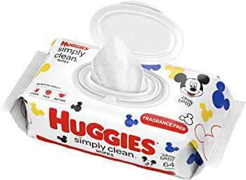 Huggies 64 Sheets Simply Clean Fragrance-free Baby Wipes