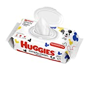 HUGGIES Simply Clean Fragrance-free Baby Wipes, Soft Pack (64 Sheets Total), Alcohol-free, Hypoallergenic (Packaging May Vary)
