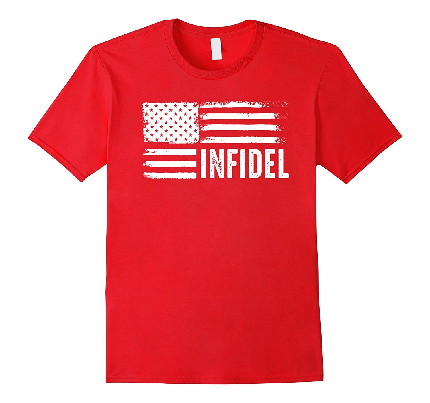 American Infidel Shirt us armed forces army Anti Terrorist-BN