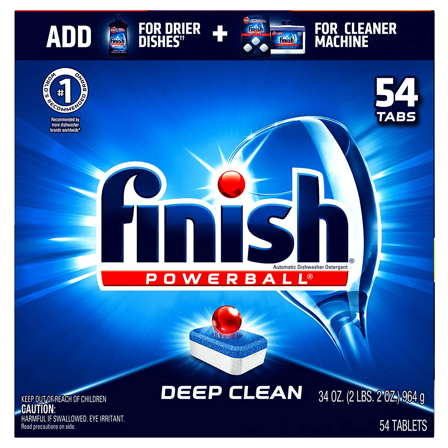 Finish All in 1 Powerball, 60 Tablets, Super Charged Automatic Dishwasher Detergent, Fresh Scent by Finish B002ODE412
