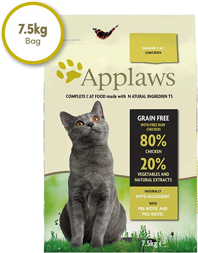 Applaws Comida seca para gatos, pollo /senior, 7.5 kg: Amazon.es: Productos para mascotas