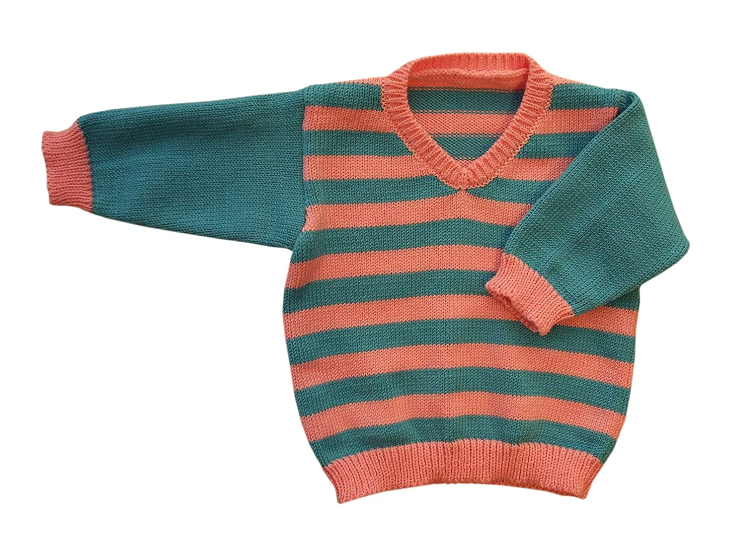 100/% merino wool baby infant knitted sweater striped