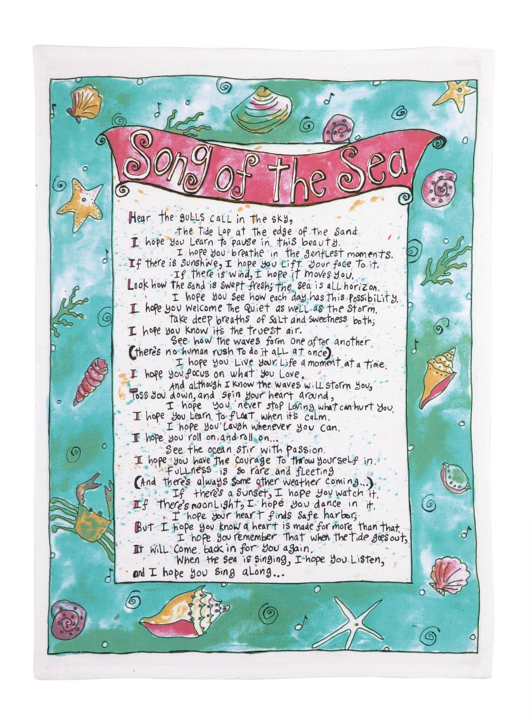 Sandy Gingras Song of The Sea Kitchen Towel Blue