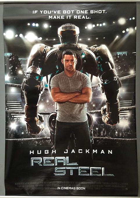 Favouritefilm Cinema Poster Real Steel 2011 Behind One Sheet Hugh Jackman Amazon Co Uk Kitchen Home