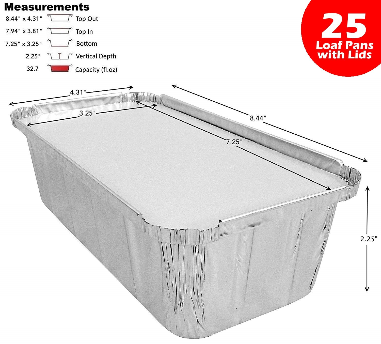 D&W Fine Pack Wilkinson A86 2 lb. Aluminum Foil Loaf/Bread Pan Tins w/Foil Board Lid (pack of 25) by D&W Fine Pack