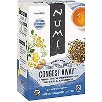 Numi Organic Tea Congest Away, Respiratory Support Tea (Pack of 3)