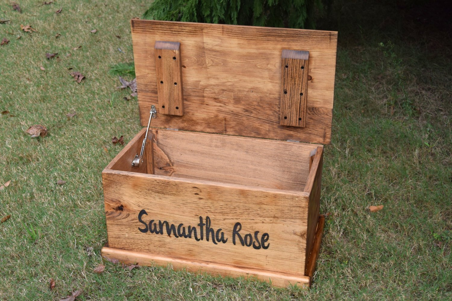 Laser Engraved Personalized Kids Toy Box - Engraved Toy Box - Personalized Toy Box - Children's Toy Box - Kids Memory Box - Gift for Kids - Wood Toy Box - Treasure Chest by Country Barn Babe (Image #4)