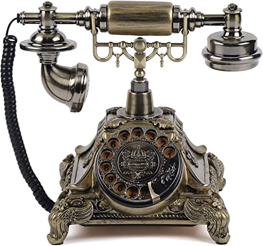 Old Fashioned Rotary Phone Antique Phone Music Box for Home Office Cafe Bar Decoration HERCHR Vintage Rotary Telephone Music Box