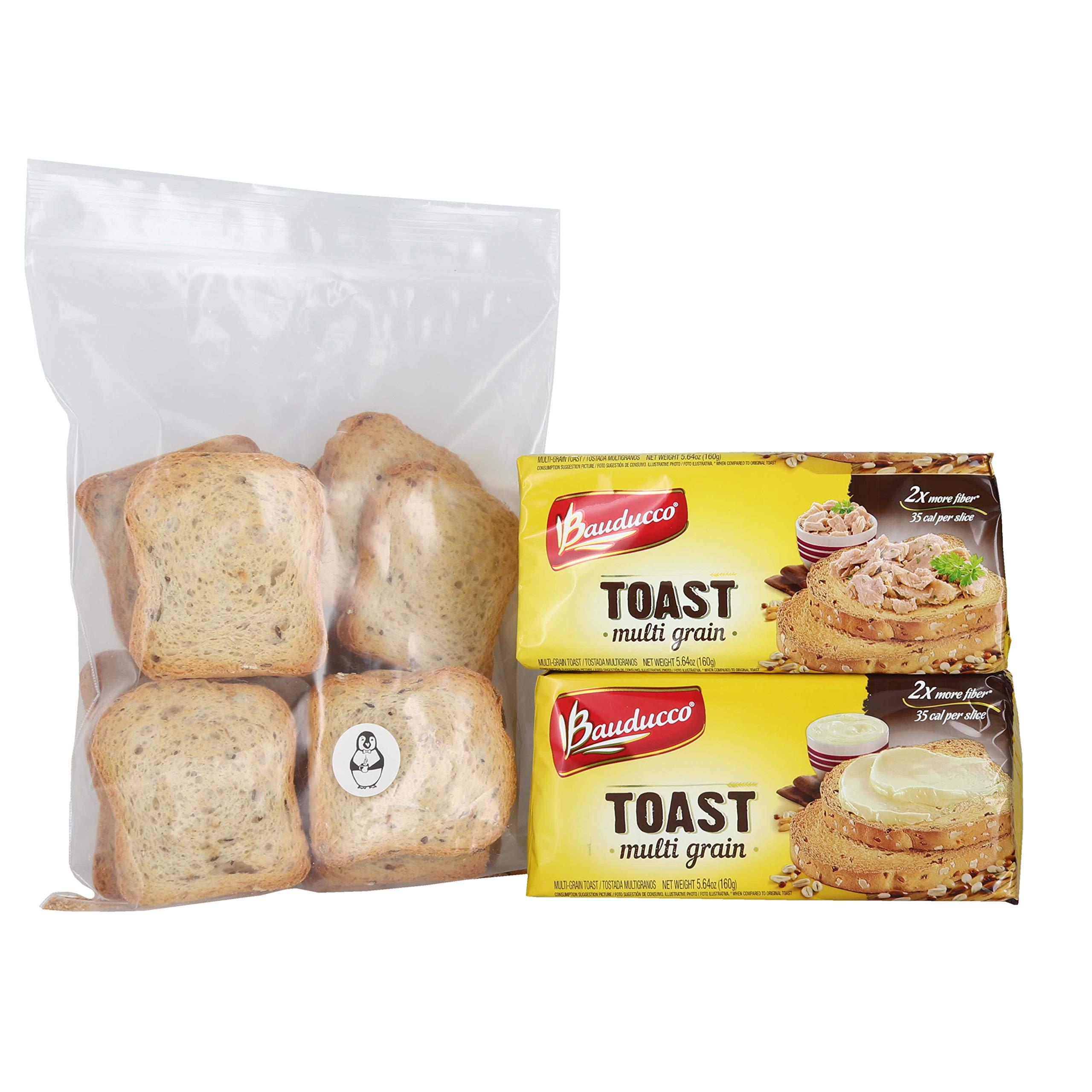 Bauducco Multi Grain Toast - (2 Pack) W/ Premium Penguin Quick Storage Pouch by Bauducco