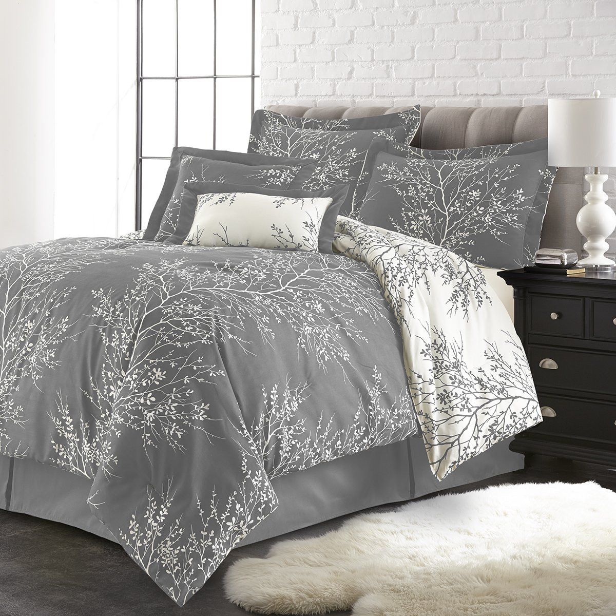 Spirit Linen, Inc Hotel 5th Ave 6PCFOLCOMF-Gwq Foliage Comforter Set