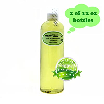 24 Oz Apricot Kernel Oil 100% Pure Organic Cold Pressed For Skin Hair And Health (2 of 12 Oz Bottles)