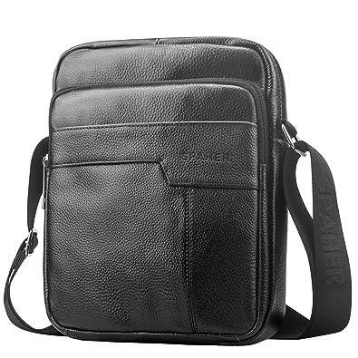 60bf58eabdf0 SPAHER Men Genuine Soft Leather Handbag Shoulder Bag Business Messenger  Backpack Crossbody Casual Tote Sling Travel