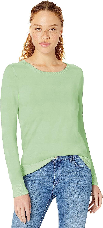Amazon Essentials Women's Classic Fit Lightweight Long-Sleeve Crewneck Sweater