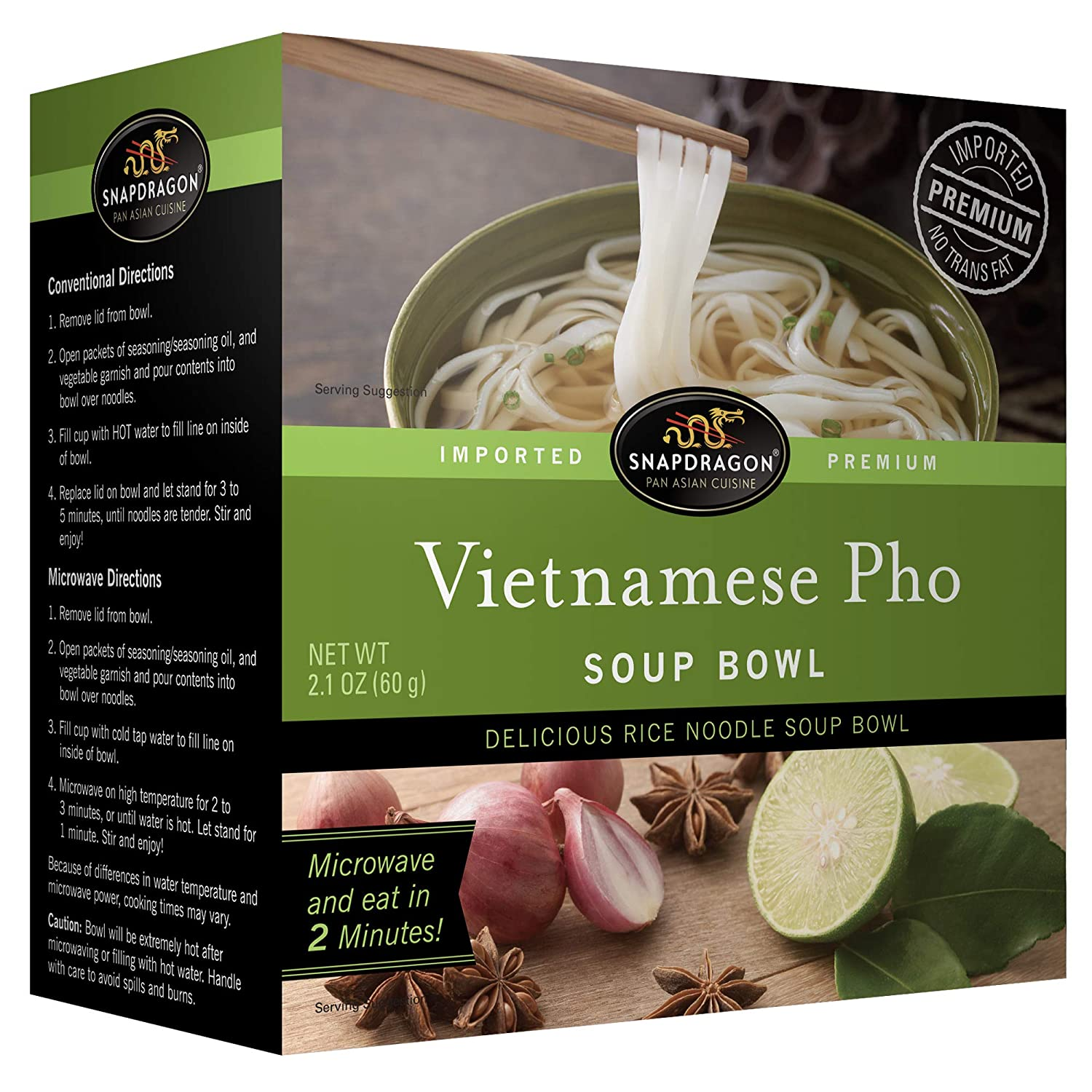 Amazon Com Snapdragon Vietnamese Pho Bowl 2 1 Oz Bowls 36count Grocery Gourmet Food