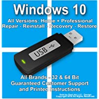 Windows 10 Reinstall Recovery Repair Restore Boot Fix USB | Professional & Home 32 & 64 Bit ALL Brands HP, Dell, etc. [Instructions & Support]