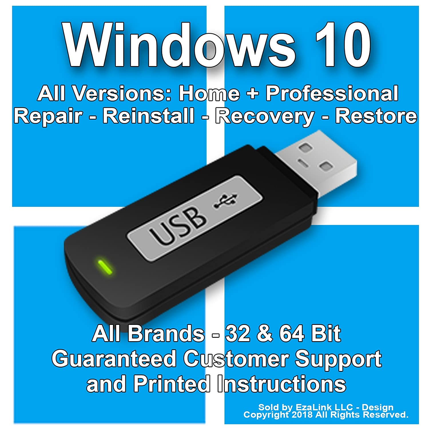 how to restore windows 10 from usb