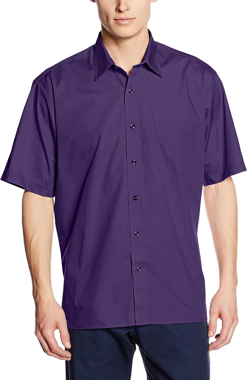Premier Workwear Poplin Short Sleeve Shirt Chemise Business Homme