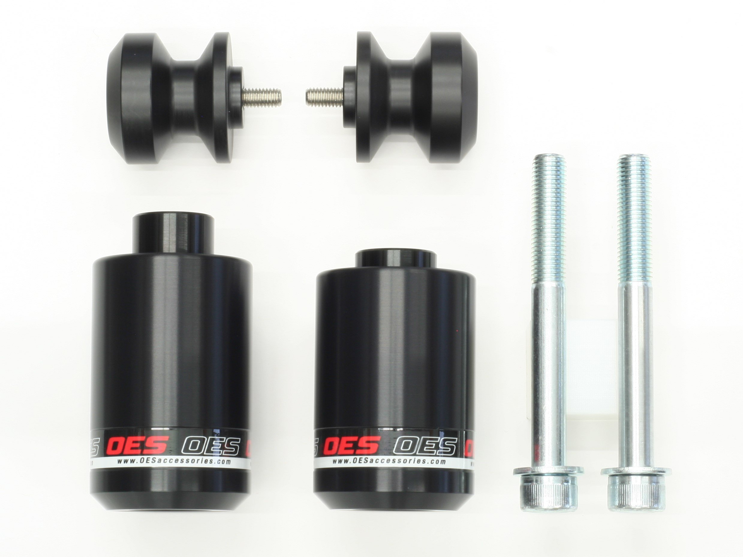 OES Frame Sliders and Swingarm Spools 2017 2019 Yamaha FZ-09 MT-09 (Red) by OES Accessories