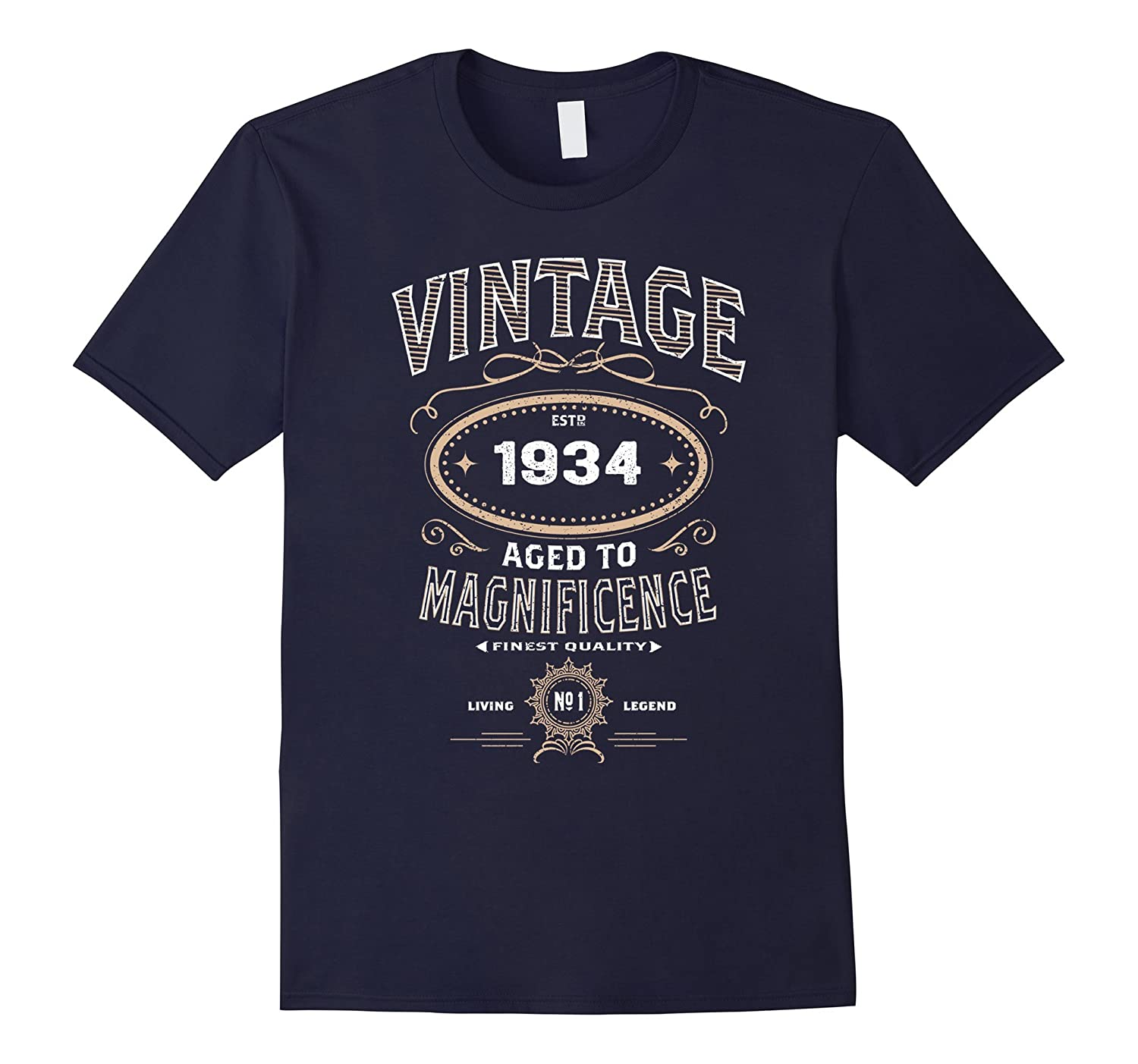 Vintage Aged To Magnificence 1934 83rd Birthday Gift T-shirt-FL