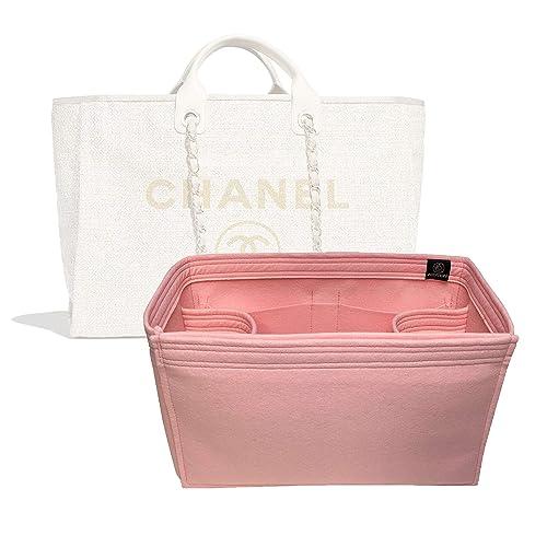 3f3ae0b33f07 Amazon.com: Zoomoni Chanel Deauville Tote (Large) Purse Organizer Insert -  Premium Felt (Handmade/14 Colors): Handmade