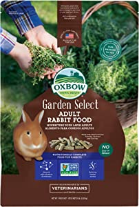 Oxbow Animal Health Garden Select Adult Rabbit Food, Garden-Inspired Recipe for Adult Rabbits, No Soy or Wheat, Non-GMO, Made in The USA, 8 Pound Bag