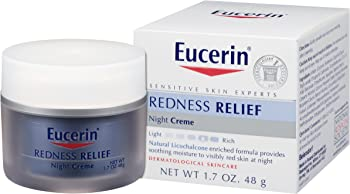 Eucerin Sensitive Skin Redness Relief Soothing 1.7 Oz Night Creme