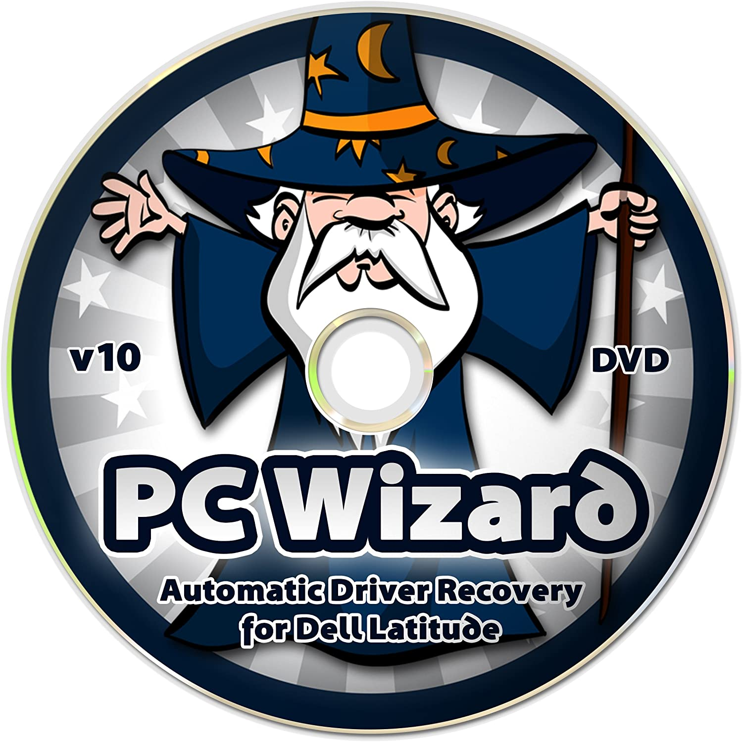 PC Wizard - Automatic Drivers Recovery Restore Update for Dell Latitude Laptops on DVD Disc - Supports Windows 10, 8.1, 7, Vista, XP (32-bit & 64-bit) - Supports All Hardware Devices