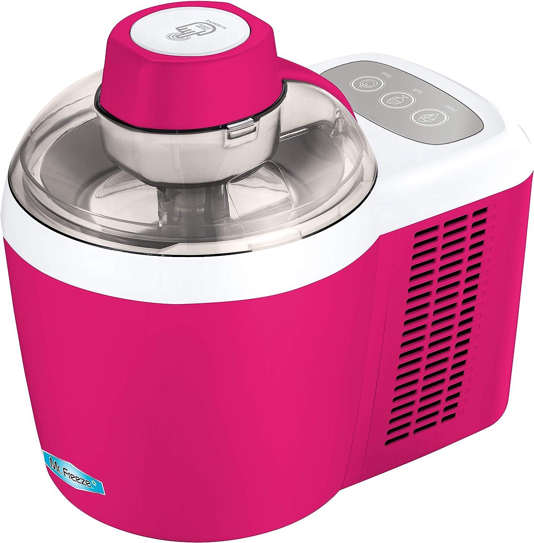 Maxi-Matic Freezing Self-Refrigerating Ice Cream Maker, Frozen Yogurt, Sorbet, Gelato Treat, 1.5 Pint, Raspberry Pink