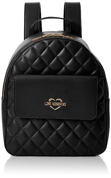 Borsa Soft Nappa Pu Nero, Womens Backpack Handbag, Black, 10x28x24 cm (B x H T) Love Moschino