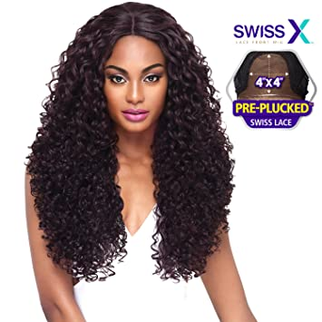 Amazon.com   Outre Synthetic Hair Lace Front Wig 4x4 Lace Swiss X ... 6e2d68b757