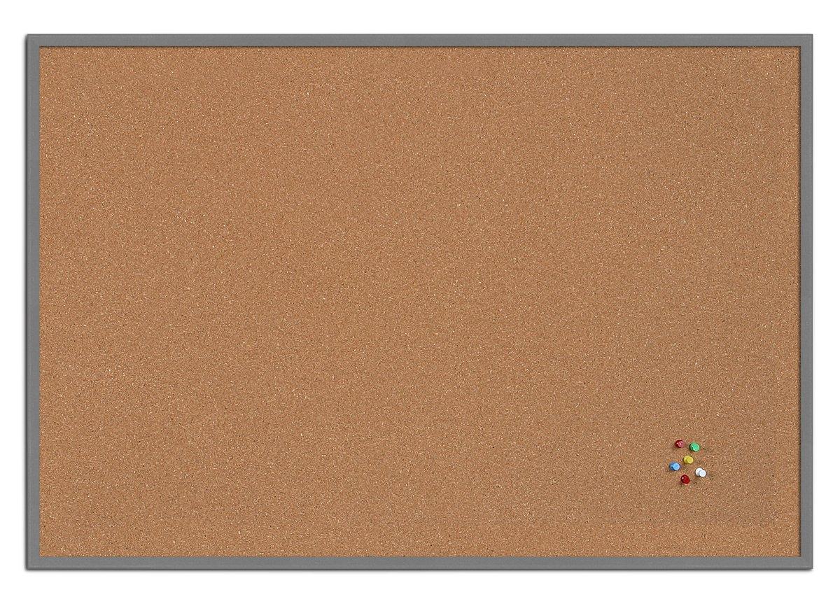Bi-Office bacheca New Basic, Lavagna in sughero con cornice in MDF, 885x585 mm, Telaio Bianco Bi-Silque SF2010012215