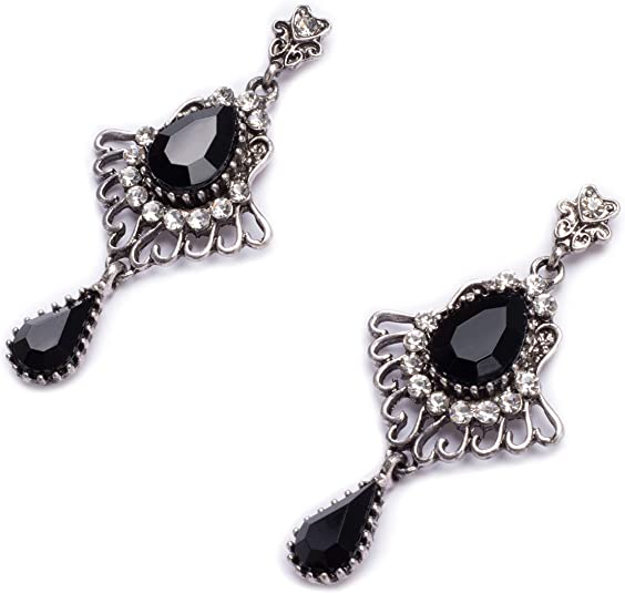 1920s Gatsby Jewelry- Flapper Earrings, Necklaces, Bracelets Metme Great Gatsby Earrings for Women 1920s Flapper Dangle Earrings Vintage Art Deco Earrings 20s Costume Accessories $9.99 AT vintagedancer.com