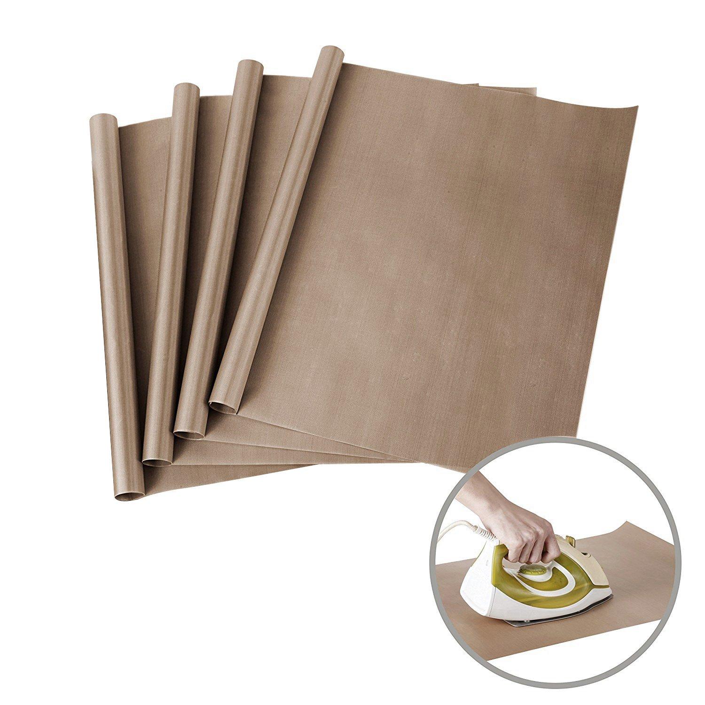 4 Pack PTFE Teflon Sheets for Heat Press Transfers Sheet 11.8 x 15.7 Non Stick Heat Resistant Craft Mat(White) cotyledon