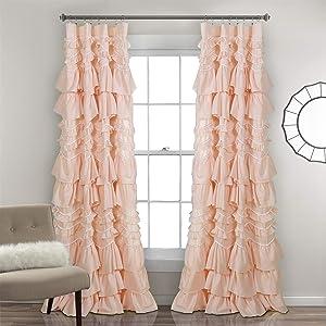 Lush Decor 16T003181, Blush Kemmy Window Curtain Sing Panel, 84