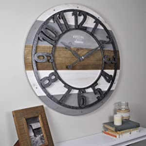 FirsTime & Co. Shabby Planks Wall Clock, 27