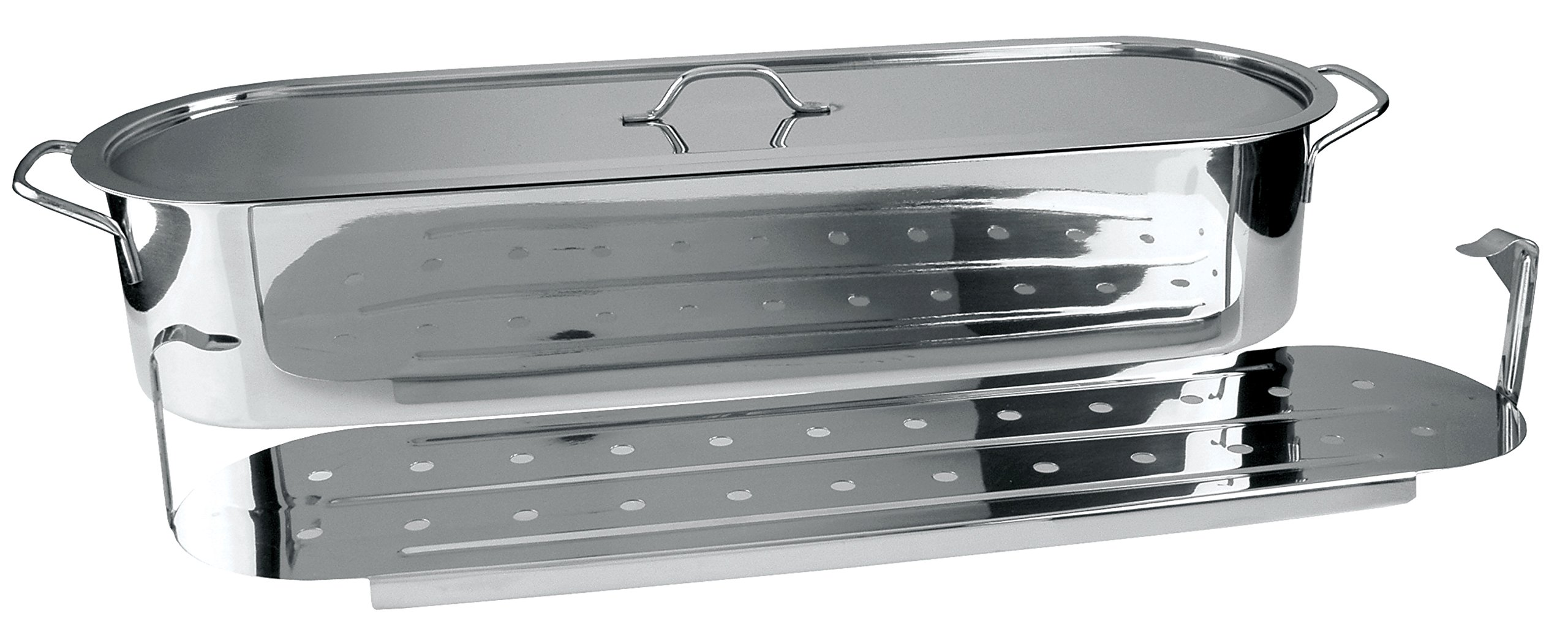 Stainless Steel 18-Inch Fish Poacher by Nantucket Seafood