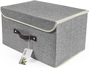vidaXL 4X Cajas de Almacenaje con Tapas Organizador Almacenamiento Cofre Papelera Plegable Hogar Bufandas Calcetines Ropa Interior Tela Morado