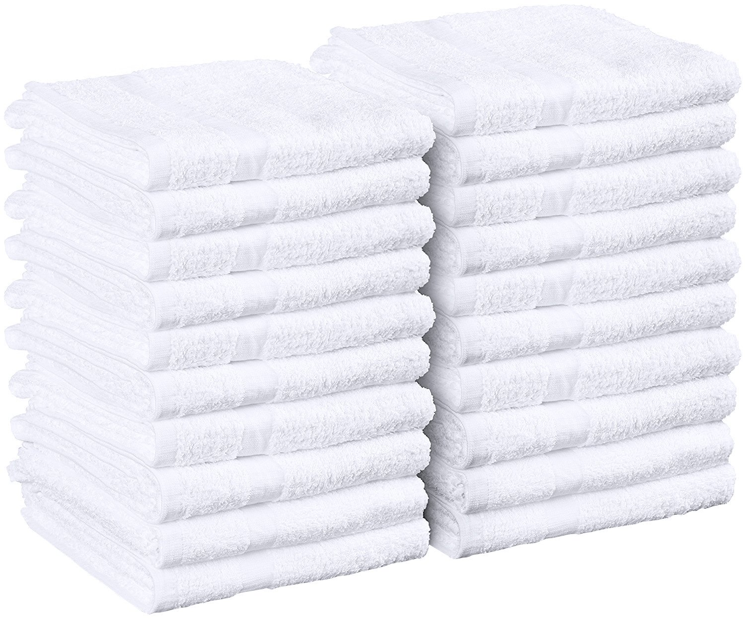 Utopia Towels Salon Towels, 24 Pack (Not Bleach Proof, 16 x 27 Inches, White) Hand Towels, Gym Towels by Utopia Towels