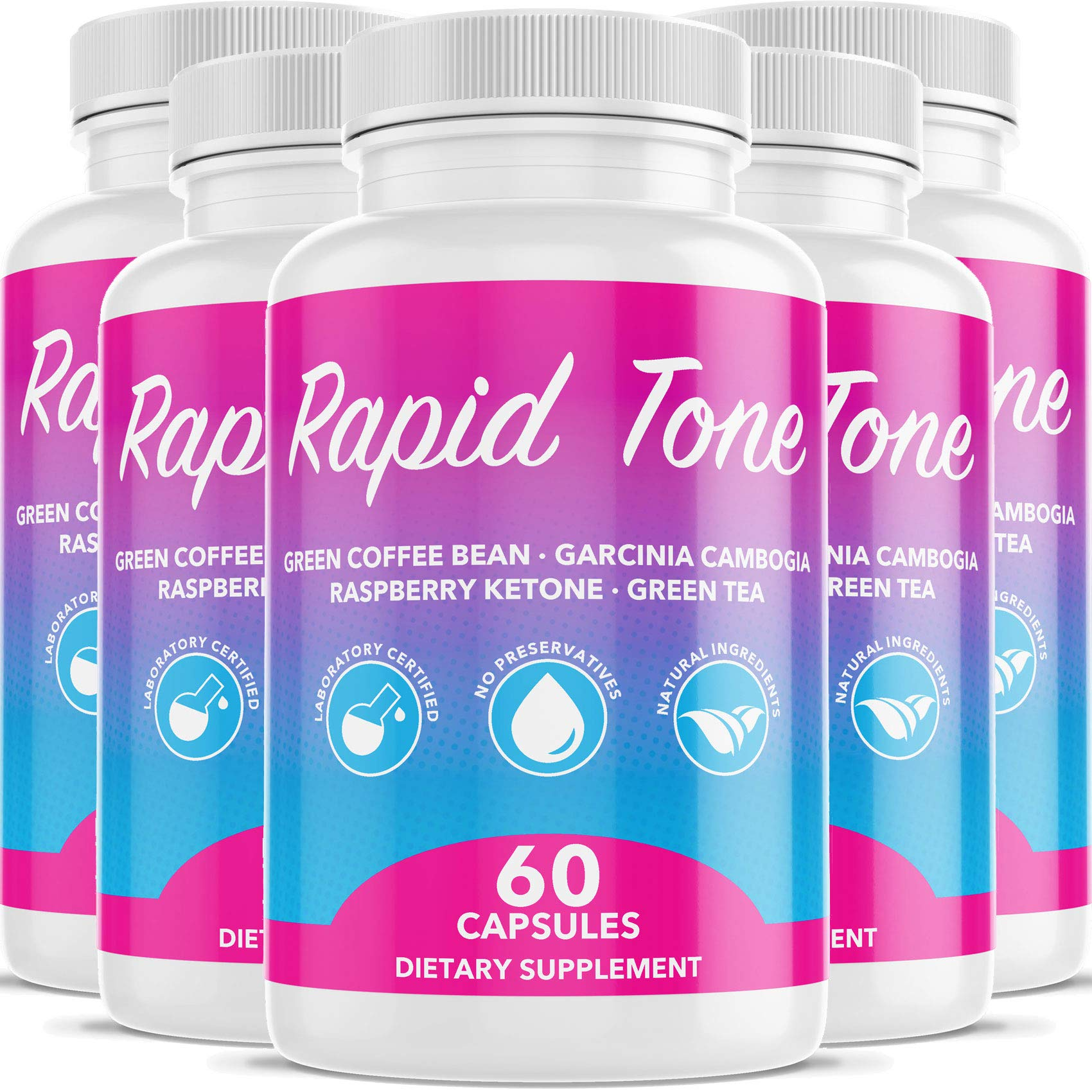 Rapid Tone Weight Loss Pills Supplement - Burn Fat Quicker - Carb Blocker, Appetite Suppressant, Fat Burner - Natural Thermogenic Extreme Diet Fast WeightLoss for Women Men (5 Month Supply)
