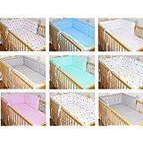 Nestchen Bettumrandung Kopfschutz 190 cm, 360 cm, 420cm für Bett 70x140 cm, 60x120cm Sterne