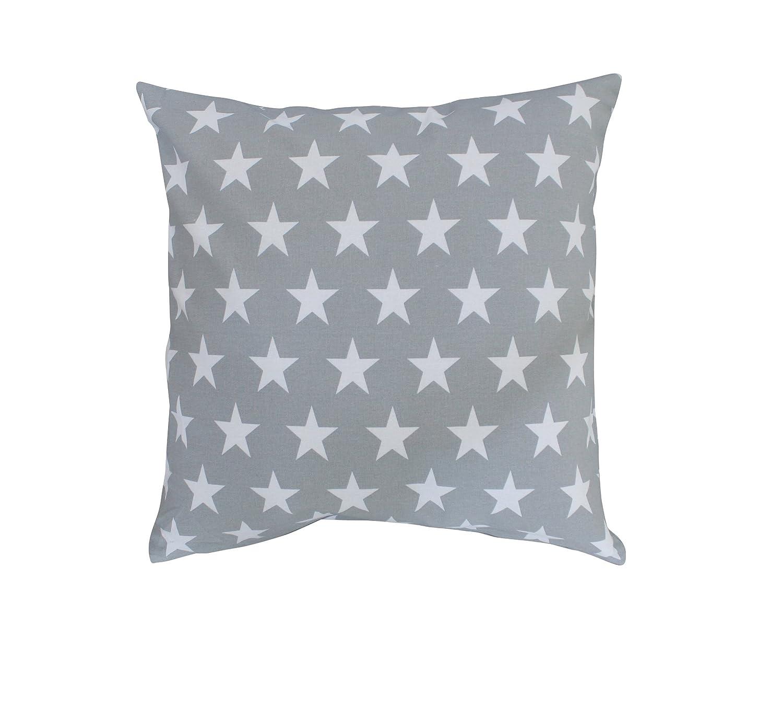 Krasilnikoff funda de almohada estrellas blanco