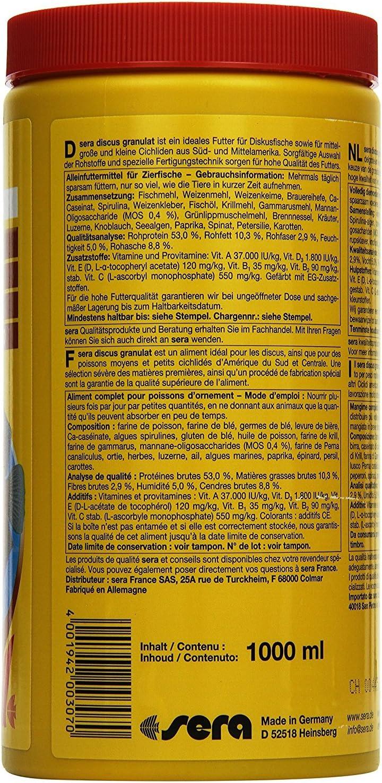 Sera 30 Discus Granules Fish Food Size: 1000 ML by: Amazon.es ...