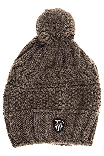 Emporio Armani EA7 women s beanie hat mount urban 2 brown UK size S 285400  7A734 18942 f913c847b9f