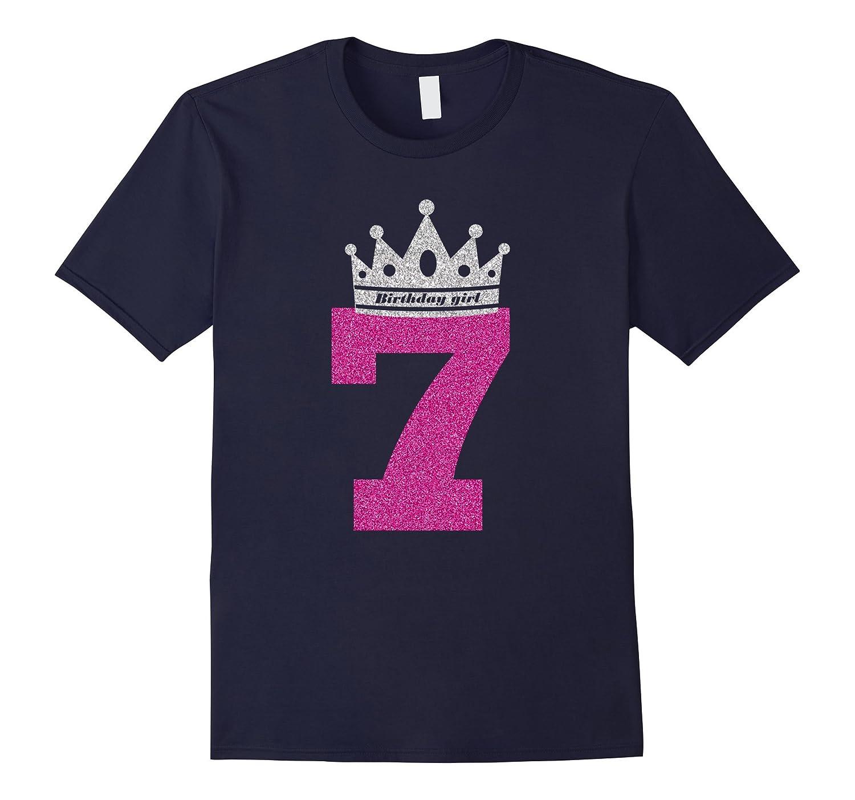 7th Birthday Shirts for Girls Princess Crown T-shirt-Art