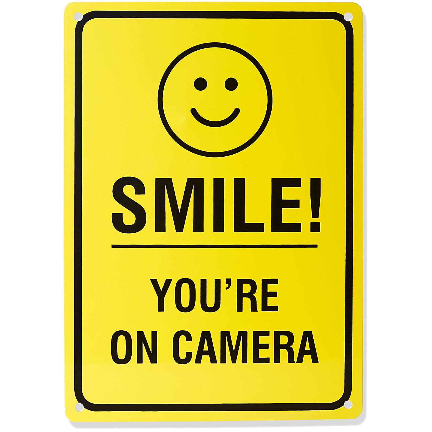 Notice Smile Your on Camera Security Sign and Fake Dome Camera with LED Light