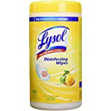 Lysol Disinfecting Surface Wipes, Citrus, 80 Wipes, Disinfectant, Cleaning, Sanitizing