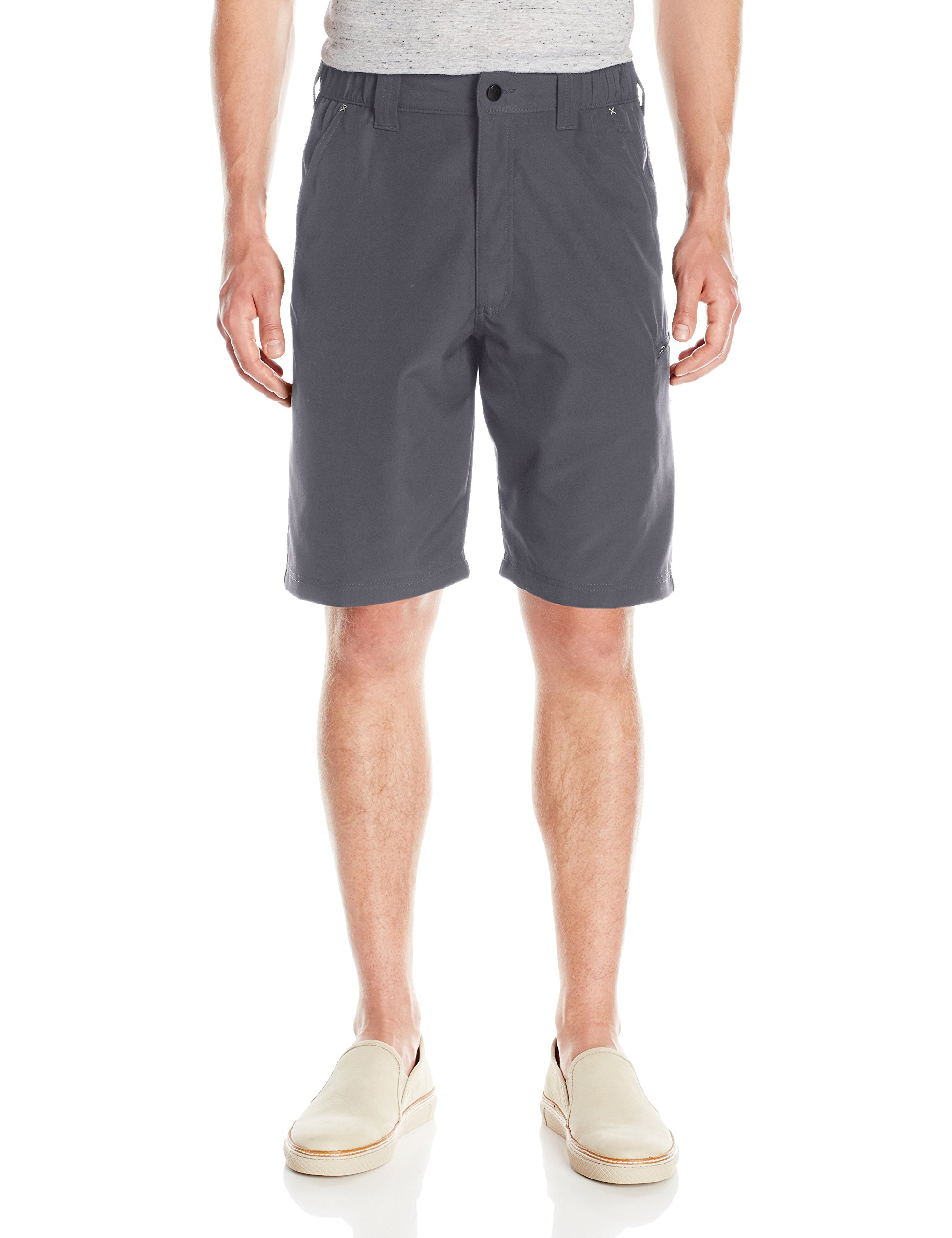 Wrangler Men's Authentics Performance Side Elastic Utility Short, Carbonite, 36