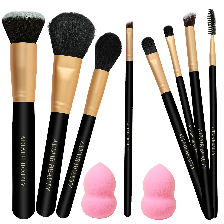 Amazon.com  Make Up Brushes Set - (On SALE) Best 11pcs PRO Makeup Brush Kit  with 2 Blender Sponges 1bf05dbfd8b5